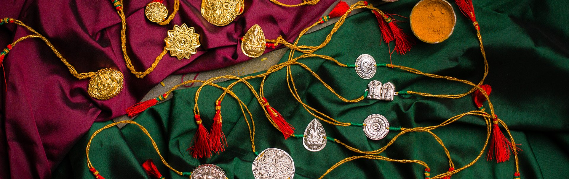 Silver and Gold coated silver rakhi's